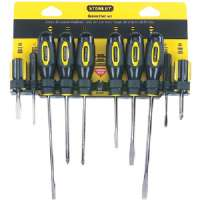 STANLEY 60-100 10-PIECE STANDARD-FLUTED SCREWDRIVER SET