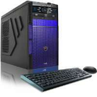 CybertronPC Hellion-DC TGM2114F Gaming PC - Intel Pentium G3258 3.20GHz, 8GB DDR3, 1TB Hard Drive, DVDRW, 2GB NVIDIA GeForce GTX 750 Ti, Fan Controls, Blue, Windows 8.1 64-bit