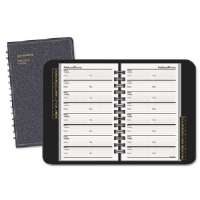 Telephone/Address Book, Wirebound, A-Z Tabbed, 8x5, Black