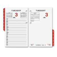 Calendar Refill,For 17-Style Base, 3-1/2x6, White