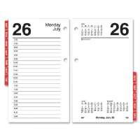 Desk Cal. Refill,F/ 17-Style,Red Monthly Tabs,3-1/2x6