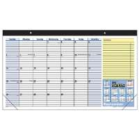 Monthly Desk Pad,Ruled Blocks,July-July,1PPM,17-3/4x10-7/8