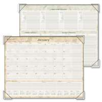 Desk Pad Calendar, 12 Mths Jan-Dec, Ruled Blocks, 22x17