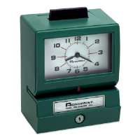 ACROPRINT TIME RECORDER CO. Time Clock, Heavy-Duty, Manual, Day of Week/Hours, Mins, GN