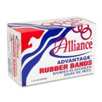 ALLIANCE RUBBER COMPANY Rubber Bands, Size 107, 1 lb., 7x5/8, Natural