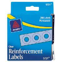 Reinforcements, 1/4 Diameter, 200/PK, Clear