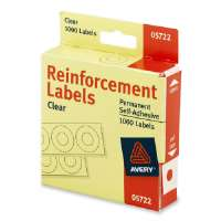 Reinforcements, 1/4 Diameter, 1000/PK, Clear