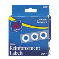 Reinforcements, 1/4 Diameter, 200/PK, White