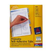 Printable Tabs, Self-Adhesive, 96/PK, 1-1/4, Assorted
