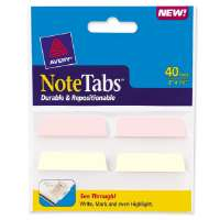 Note Tabs, Traditional,2x1-1/2,40/PK,PSTYW/PK,ClearBody