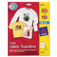Iron-On T-Shirt Transfers, 6/PK, 8-1/2x11