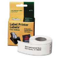 Multi-purpose Labels, 3-1/2x1-1/8, 120/Roll,1 RL/BX, Clear