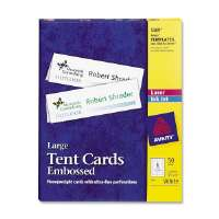 Laser/Inkjet Tent Cards,Perforated,11x3-1/2,50/BX,WE