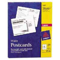 Laser/Inkjet Postcard,Perforated,5-1/2x4-1/4,200/BX,White