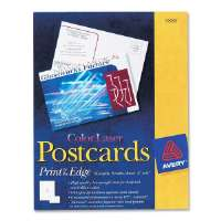 Color Laser Postcard, Perforated, 4x6, 80/BX, White