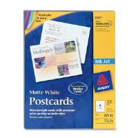 Inkjet Postcard,Perforated,5-1/2x4-1/4,200/BX,Matte,WE