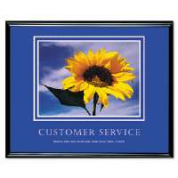 Customer Service Framed, Print, 30x24, Black Frame