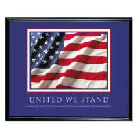 Motivational Poster United We Stand Framed Print,30x24