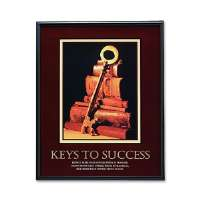 Keys to Success Poster, 24x30, Black Frame