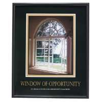 Motivational Poster Window Of Opportunity,24x30,BK Frame