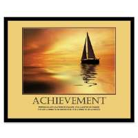 Motivational Poster, Achievement, 30x24