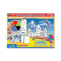 Spinner Dry-Erase Mat, Colors/Shapes, Assorted