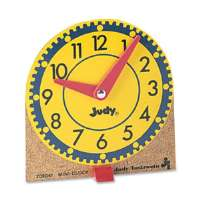 Mini Judy Clocks, Mounted on Wooden Base, 12/ST