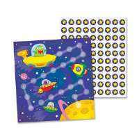Mini Incentive Chart, Out Of This World, 30/PK, Multi-Color