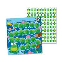 Mini Incentive Chart, Frog, 660 Pieces/PK, Multi-Color