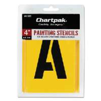 Painting Stencil Numbers/Letters, 4, Yellow