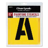 Painting Stencil Numbers/Letters, 6, Yellow