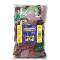 CHENILLE KRAFT COMPANY Pound of Felt, Assorted Size/Shapes