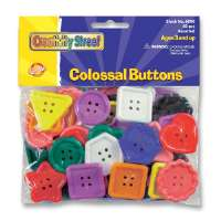 Plastic Craft Buttons, Assorted Colors/Sizes