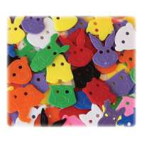 Buttons, Animals Faces, 70 Pcs, Multi
