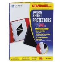 C-LINE PRODUCTS INC. Side Load Sheet Protector,Strd. Weight,11x8-1/2,50/BX,CL