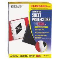 C-LINE PRODUCTS INC. Side Load Sheet Protector,Strd. Weight,11x8-1/2,100/BX,CL-3213