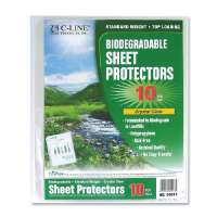 C-LINE PRODUCTS INC. Sheet Protectors, Top Load, 11x8-1/2, 10/PK, Clear