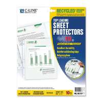 C-LINE PRODUCTS INC. Recycled Top Load Sheet Protector, Reduced Glare, Clear