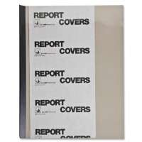 C-LINE PRODUCTS INC.  Report Covers, w/ Binding Bars, 50/BX, Smoke Vinyl