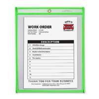Shop Ticket Holder, 9x12 ,Metal Eyelet, Neon Green