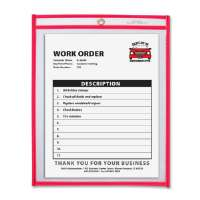 Shop Ticket Holder, 9x12, Metal Eyelet, Neon Red