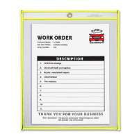 Shop Ticket Holder, 9x12, Metal Eyelet, Neon Yellow