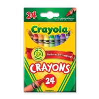 Crayon Set, 3-5/8, Permanent/Waterproof, 24/BX, Assorted
