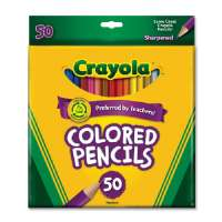 CRAYOLA Colored Pencils, 3.3mm Lead, 50/ST, Assorted (68-4050)