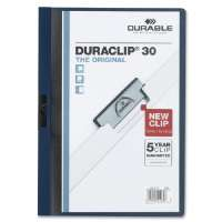 DuraClip Report Cover, 30 Sheet Capacity, 11x8-1/2, Navy