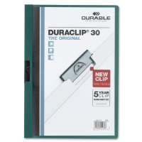 DuraClip Report Cover, 30 Sheet Capacity, 11x8-1/2,TLGN