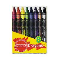 CRAYONS,WAX,8CT