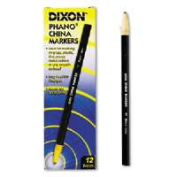 DIXON TICONDEROGA COMPANY China Marker, Nontoxic, Paper Wrapped, Black