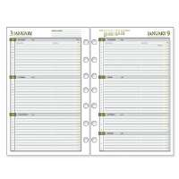 Weekly Planner Calendar Refill,2PPW,Jan-Dec,5-1/2x8-1/2