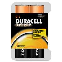 Alkaline Battery, D Size, 8/PK
